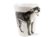 Picture of Irish Wolfhound Handmade 8oz Coffee Mug Grey