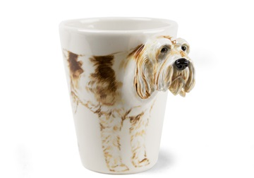 Picture of Italian Spinone Handmade 8oz Coffee Mug White and Brown Roan