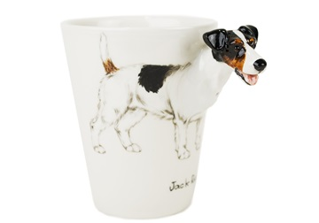 Picture of Jack Russell Handmade 8oz Coffee Mug Tri Colour