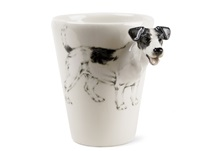 Picture of Jack Russell Handmade 8oz Coffee Mug White And Black