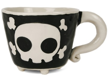 Picture of Jolly Roger Handmade Ceramic 8oz Coffee Mug Black