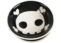 Picture of Jolly Roger Handmade Ceramic Cereal Medium Bowl Black