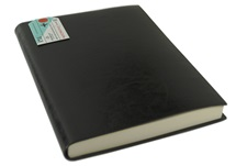 Picture of Journalista Handmade Recycled Leather Bound A5 Journal Black lined