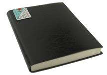 Picture of Journalista Handmade Recycled Leather Bound A5 Journal Black Plain