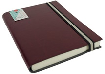 Picture of Journalista Handmade Recycled Leather Band A5 Journal Burgundy lined
