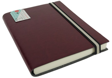 Picture of Journalista Handmade Recycled Leather Band A5 Journal Burgundy Plain