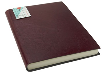 Picture of Journalista Handmade Recycled Leather Bound A5 Journal Burgundy Plain