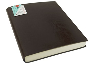 Picture of Journalista Handmade Recycled Leather Bound A5 Journal Chocolate Plain