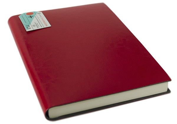 Picture of Journalista Handmade Recycled Leather Bound A5 Journal Red Plain