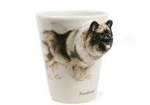 Picture of Keeshond Handmade 8oz Coffee Mug Wheat