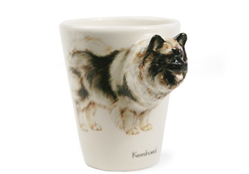 Picture of Keeshond Handmade 8oz Coffee Mug Wheat