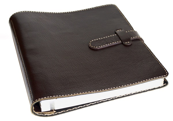 Picture of Khun Handmade Leather Bound Large Post Bound Photo Album Chocolate