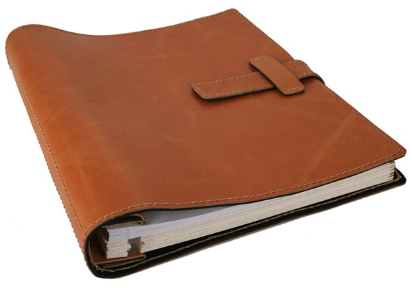 Picture of Khun Handmade Leather Bound Large Post Bound Photo Album Tuscan Tan