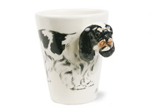 Picture of King Charles Spaniel Handmade 8oz Coffee Mug Black