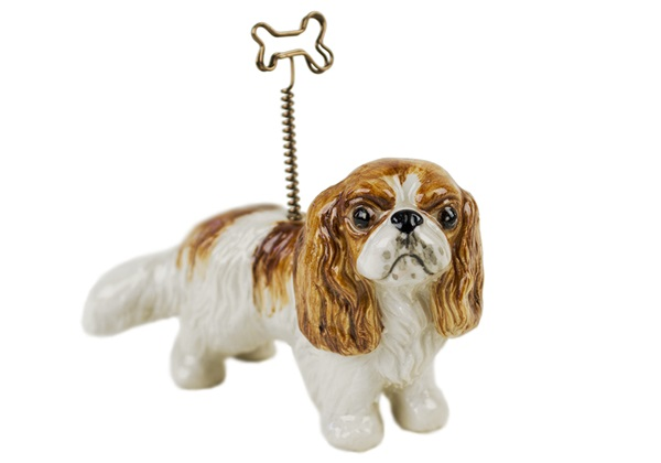Picture of King Charles Spaniel Handmade Mini Picture Holder Blenheim