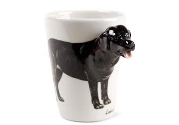 Picture of Labrador Retriever Handmade 8oz Coffee Mug Black