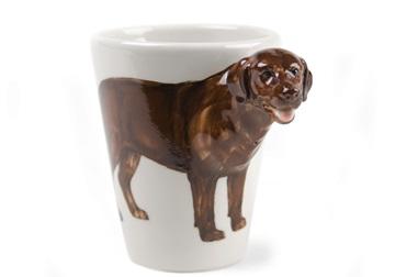 Picture of Labrador Retriever Handmade 8oz Coffee Mug Chocolate