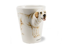 Picture of Labrador Retriever Handmade 8oz Coffee Mug Yellow
