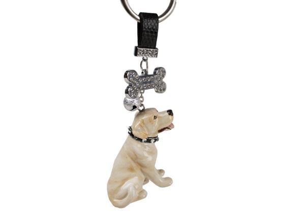 Picture of Labrador Retriever Handmade Mini Key Ring Yellow