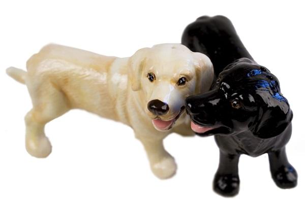 Picture of Labrador Retriever Handmade Mini Cruet Set Yellow and Black