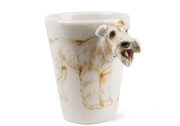 Picture of Lakeland Terrier Handmade 8oz Coffee Mug Black Tan