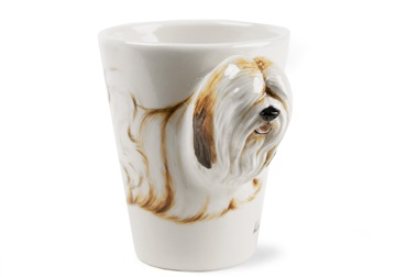 Picture of Lhasa Apso Handmade 8oz Coffee Mug White