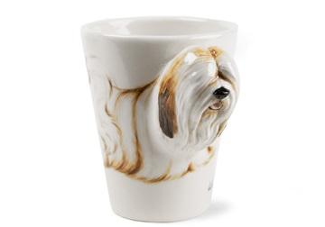 Picture of Lhasa Apso Handmade 8oz Coffee Mug White