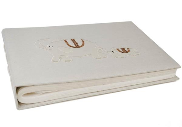 Picture of Little Baby Ele Handmade Bound Large Photo Album White