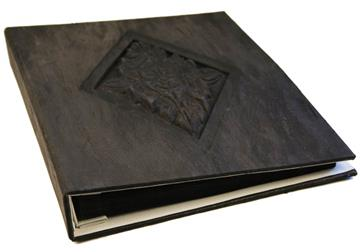 Picture of Lotus Large Ash Handmade Bark Bound Post Bound Photo Album