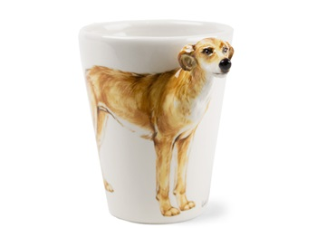 Picture of Lurcher Handmade 8oz Coffee Mug Light Brown