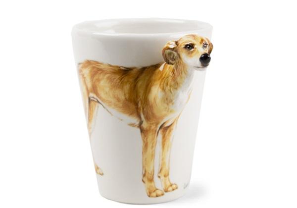 Picture of Lurcher Handmade 8oz Coffee Mug Light Brown