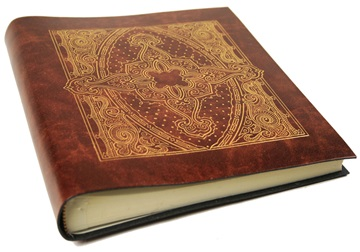 Picture of Lustro Handmade Recycled Leather Bound Medium Photo Album Gold