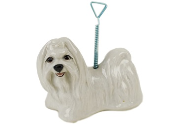 Picture of Maltese Handmade Mini Picture Holder White