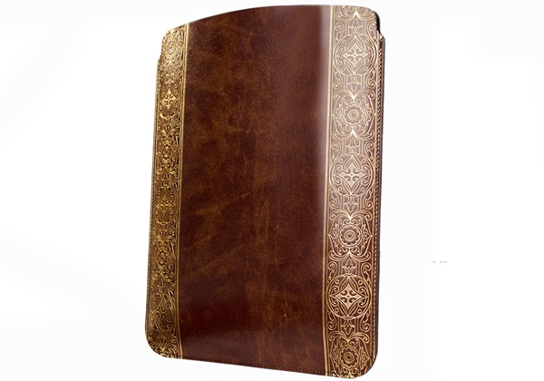 Picture of Maya Handmade Recycled Leather ipad ipad Case Gold