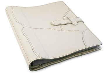 Picture of Medley Handmade Leather Bound Large Post Bound Photo Album Ivory