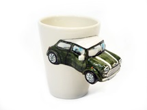 Picture of Mini Cooper Handmade 8oz Coffee Mug Army Green