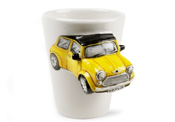 Picture of Mini Cooper Handmade 8oz Coffee Mug Yellow