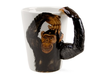 Picture of Monkey Handmade 8oz Coffee Mug Black