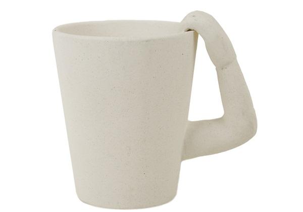 Picture of Monkey Handmade Ceramic 8oz Coffee Mug Unpainted
