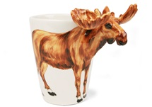 Picture of Moose Handmade 8oz Coffee Mug Brown