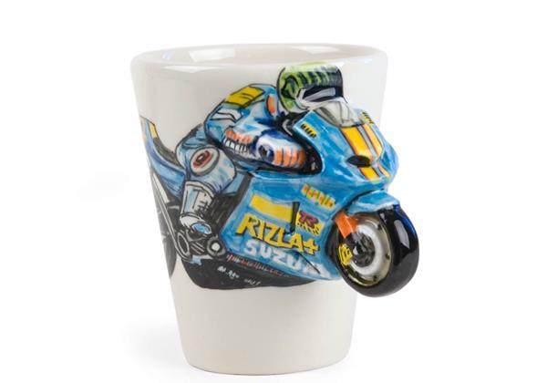 Picture of Motorbike Handmade 8oz Coffee Mug Blue