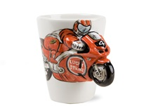 Picture of Motorbike Handmade 8oz Coffee Mug Red