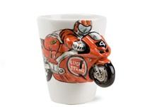 Picture of Motorbike Handmade 8oz Coffee Mug Red