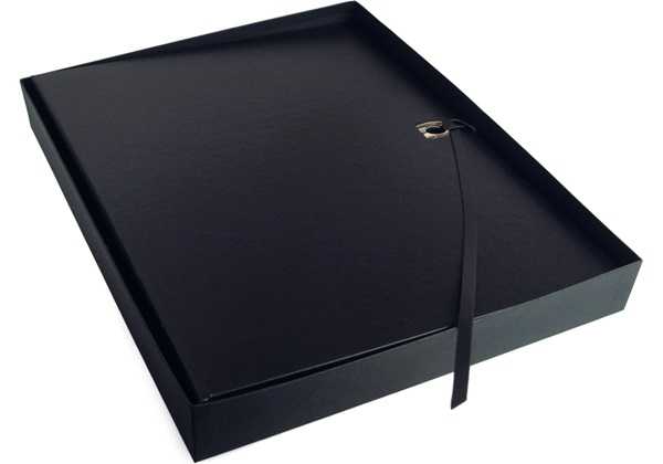 Picture of Naimo Handmade Bound Extra Large Photo Album Black