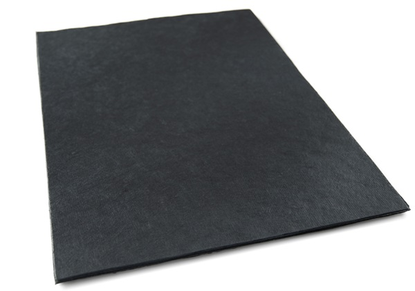 Picture of Natural Bark Plain A4 Handmade Paper Black