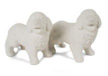 Picture of Newfoundland Handmade Unpainted Ceramics Mini Unpainted Cruet Set Unglazed