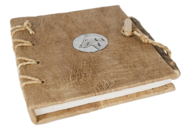 Picture of Nickel Handmade A6 Journal Wolf Plain