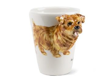 Picture of Norfolk Terrier Handmade 8oz Coffee Mug Tan