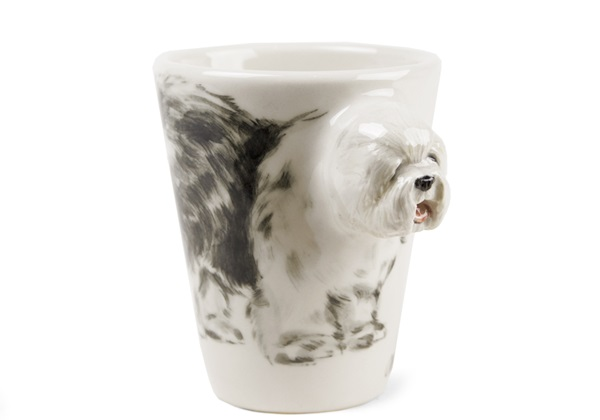 Picture of Old English Sheepdog Handmade 8oz Coffee Mug Grey