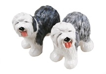 Picture of Old English Sheepdog Handmade Mini Cruet Set Grey